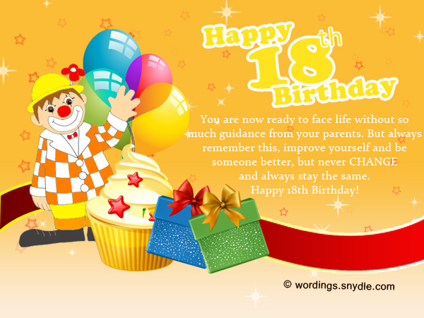 18th birthday wishes greeting and messages wordings and messages 18th birthday messages and greetings m4hsunfo
