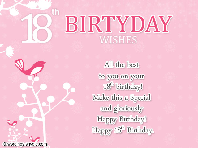 18th Birthday Wishes, Greeting and Messages | Wordings and Messages