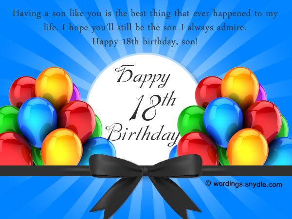 Birthday Wishes Male Cousin ~ 18th birthday wishes greeting and messages wordings and messages