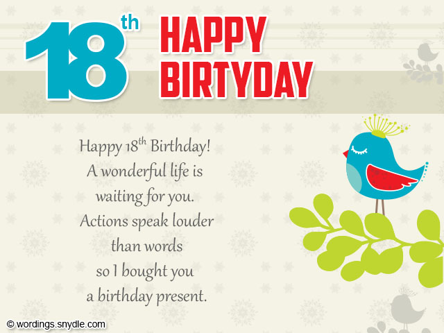 18th birthday wishes greeting and messages wordings and messages 18th birthday wishes m4hsunfo