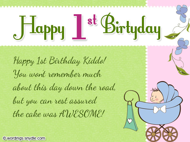 1st Birthday Wishes Wordings and Messages – 1st Birthday Card