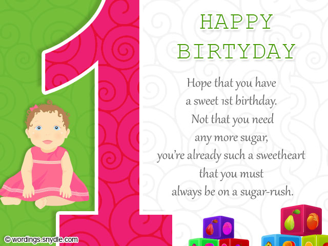 1st Birthday Wishes Wordings and Messages – 1st Birthday Greetings