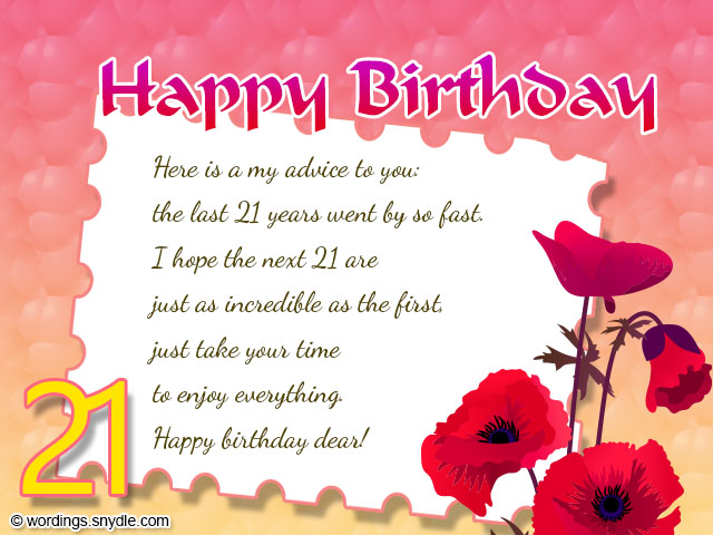 21st Birthday Wishes Messages and 21st Birthday Card Wordings – Wish Birthday Card