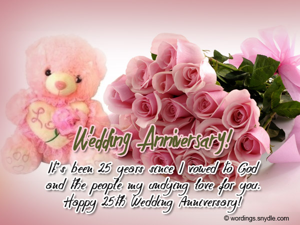 25th wedding anniversary wishes messages and wordings wordings