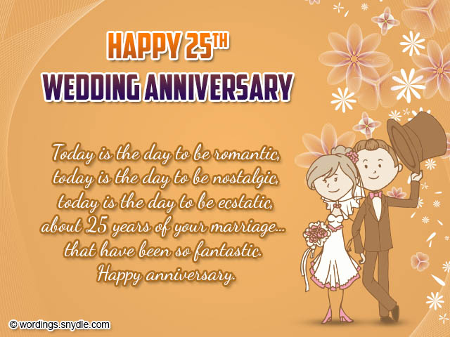 25th Wedding Anniversary Wishes, Messages and Wordings - Wordings and ...