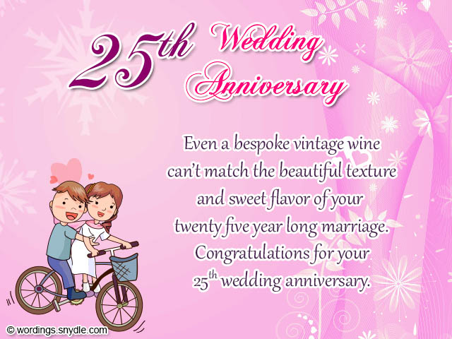 25th wedding anniversary wishes messages and wordings wordings 25th wedding anniversary wishes m4hsunfo