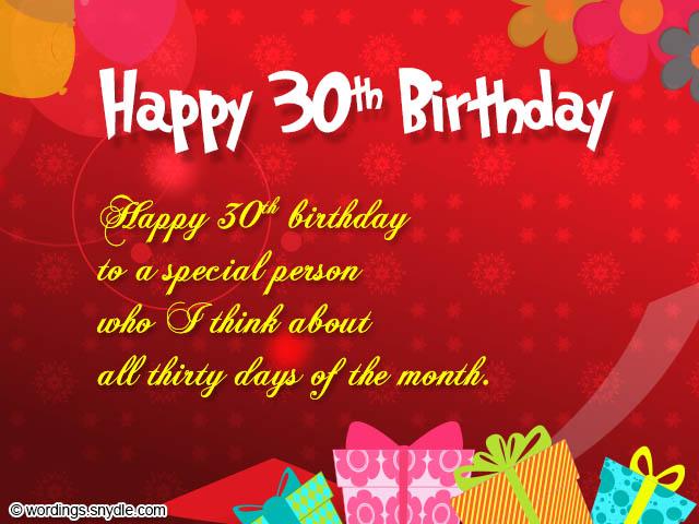 30th Happy Birthday Wi...