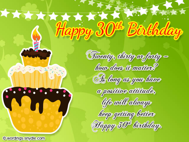 30th Birthday Wishes Wordings And Messages