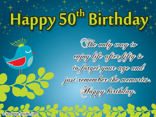 50th Birthday Wishes Messages And Card Wordings