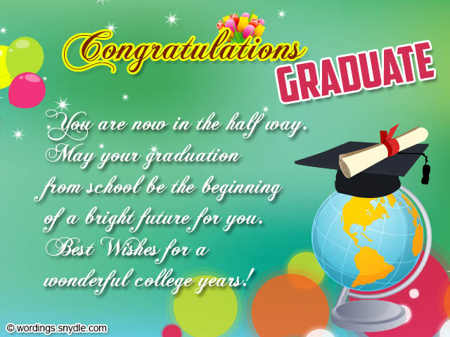 graduation congratulations messages and wordings wordings and messages