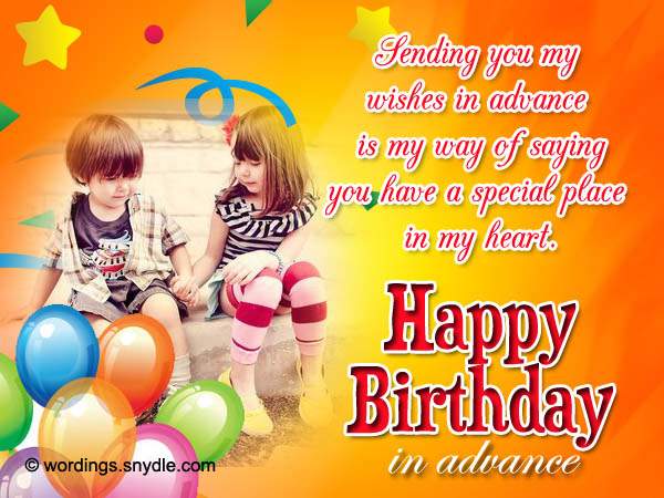 Advance Birthday Wishes Messages and Advance Birthday Card – Birthdays Greetings
