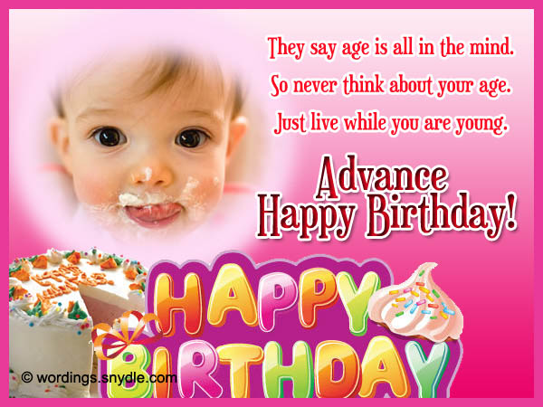 Advance Birthday Wishes, Messages and Advance Birthday ...