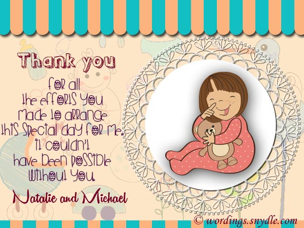 baby shower thank you notes samples wordings and messages