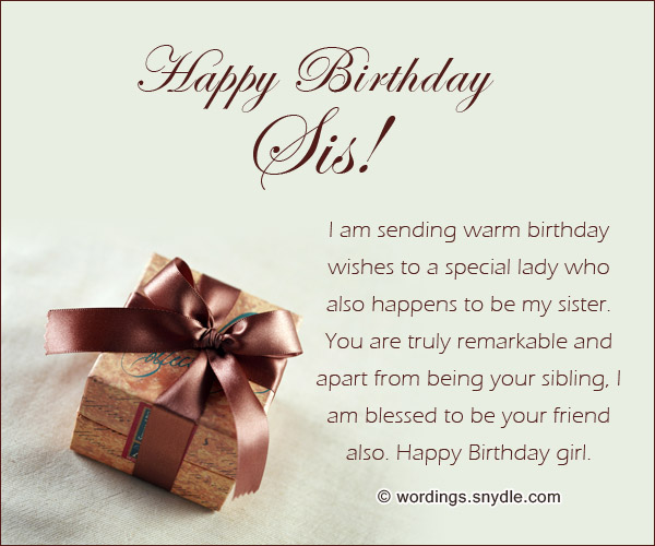 Happy birthday wishes for sister wordings and messages beautiful birthday messages for sister m4hsunfo