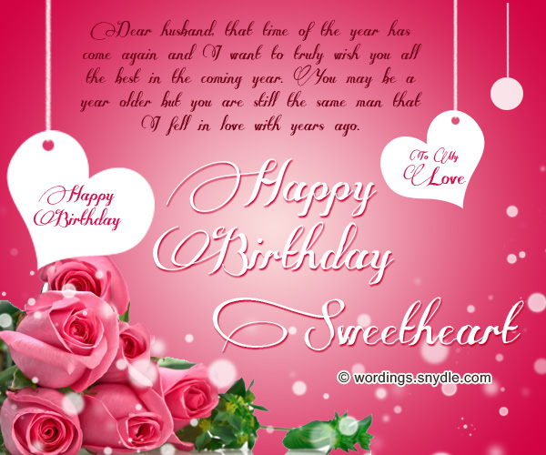 Happy birthday dear husband messages