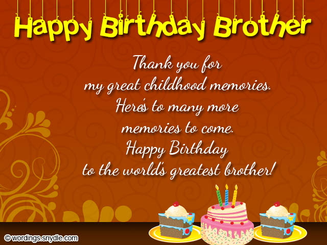 Birthday wishes for brother wordings and messages birthday wishes for brother m4hsunfo Images