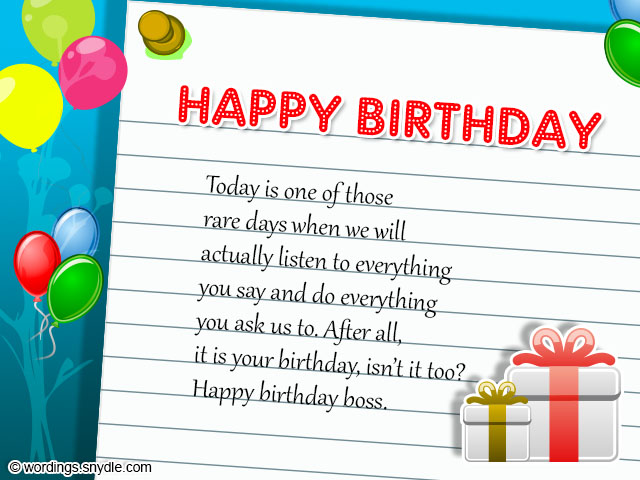 birthday wishes for boss and birthday card wordings for boss, Birthday card