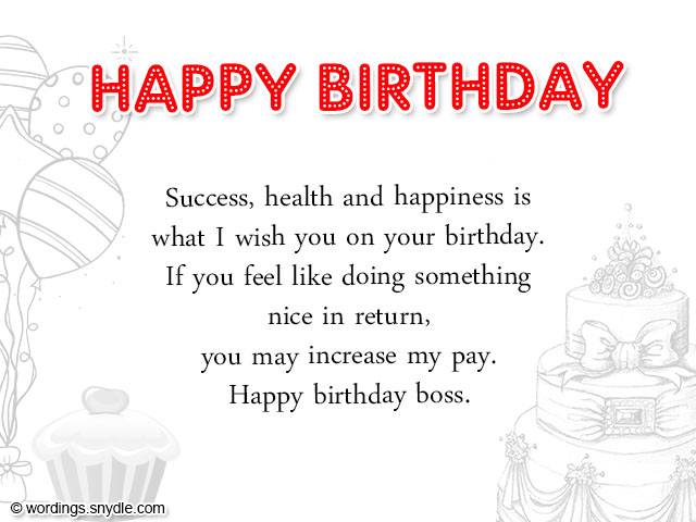 Birthday wishes for boss and birthday card wordings for boss birthday greetings for boss m4hsunfo Gallery