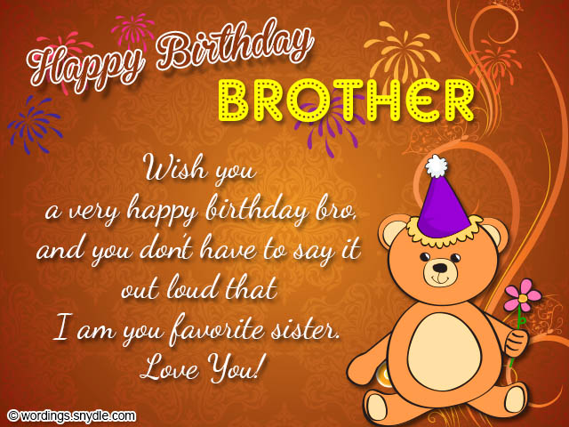 Birthday wishes for brother wordings and messages birthday greetings for brother m4hsunfo