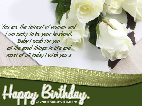 Happy Birthday Message Good Friend ~ Birthday wishes and messages for wife wordings and messages