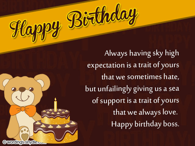 Birthday Wishes For Boss Funny ~ Birthday wishes for boss and card wordings