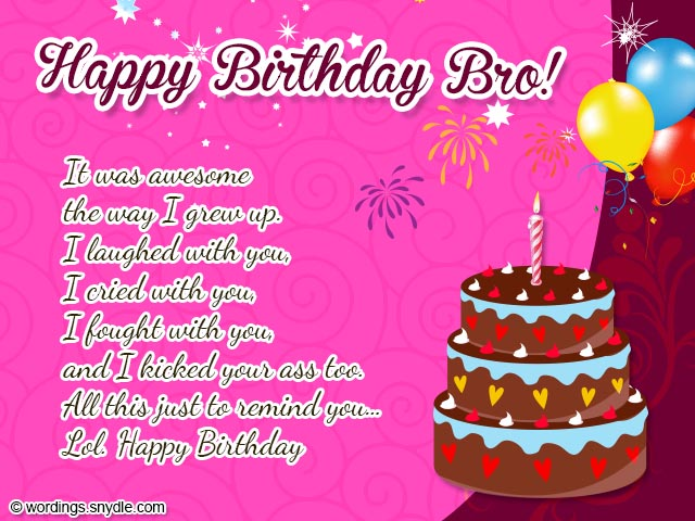 Birthday wishes for brother wordings and messages birthday messages for brother m4hsunfo Images