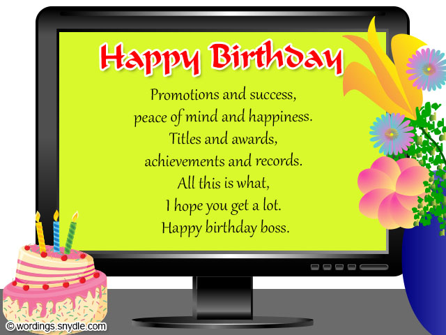 Birthday wishes for boss and birthday card wordings for boss birthday wishes for boss m4hsunfo