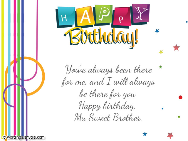 Birthday wishes for brother wordings and messages birthday wishes for brother m4hsunfo