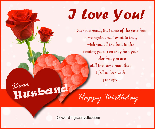 Birthday Wordings For Husband