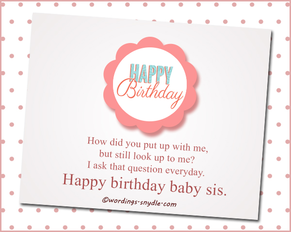 Cool Happy Birthday Wishes For Sister Wordings And Messages Funny Birthday Cards Online Fluifree Goldxyz