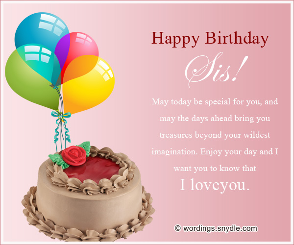 Happy Birthday Wishes for Sister Wordings and Messages – Happy Birthday Cards for My Sister
