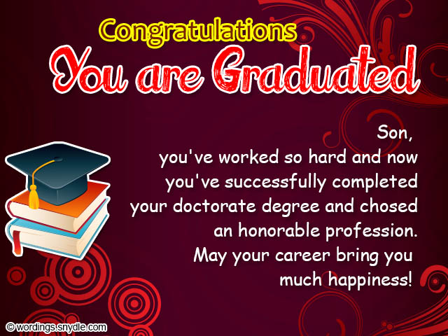 Graduation congratulations messages and wordings wordings and messages congratulations on you graduation m4hsunfo