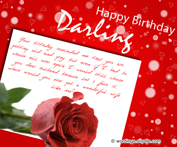 Birthday wishes for husband husband birthday messages and greetings happy birthday darling m4hsunfo