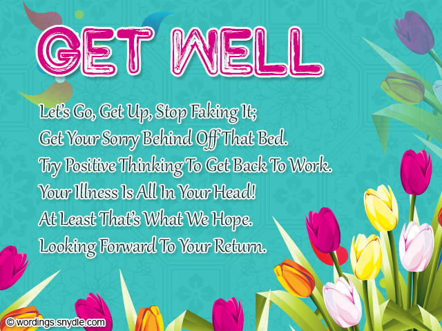 Get Well Soon Wishes And Card Wordings Wordings And Messages