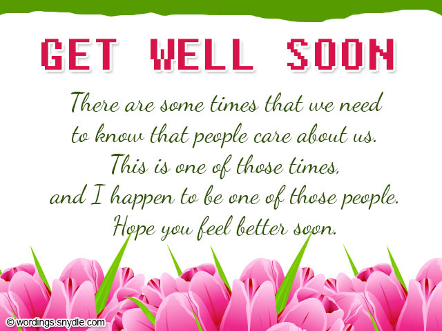 Get Well Soon Card Wordings