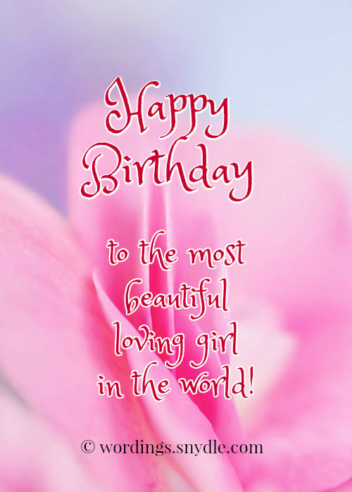 Happy birthday wishes for girlfriend wordings and messages cute birthday wishes for girlfriend m4hsunfo
