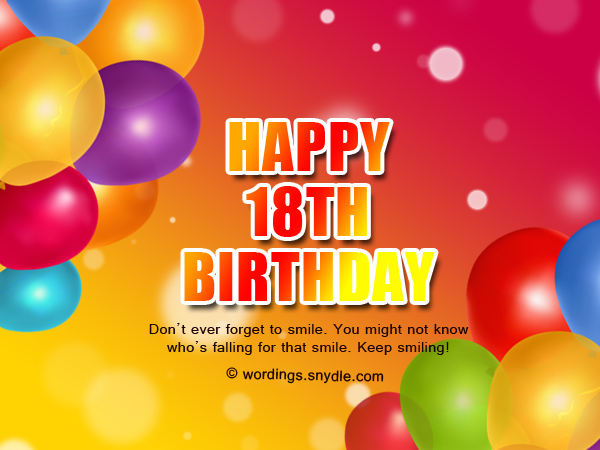 Happy 18th Birthday Wishes Www Imgkid Com The Image Happy 18th Birthday Wishes For