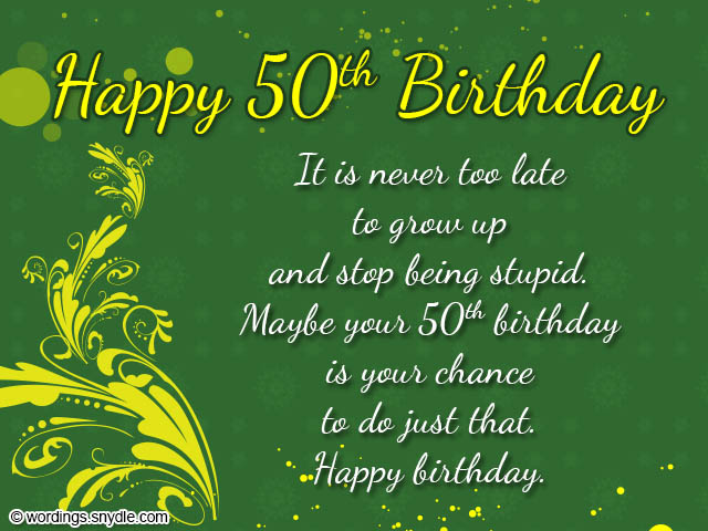 Birthday Wishes For 50th