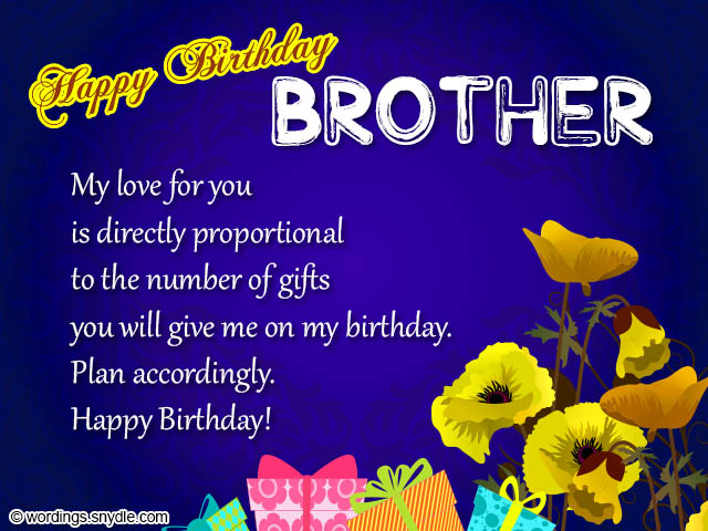 Birthday Wishes For Brother Best 50 Birthday Messages For Your – Birthday Card for My Brother