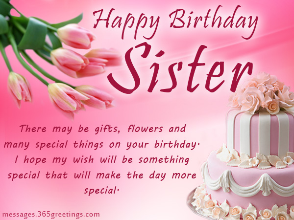 Happy Birthday Sister Images.Happy Birthday Sister Wordings And Messages