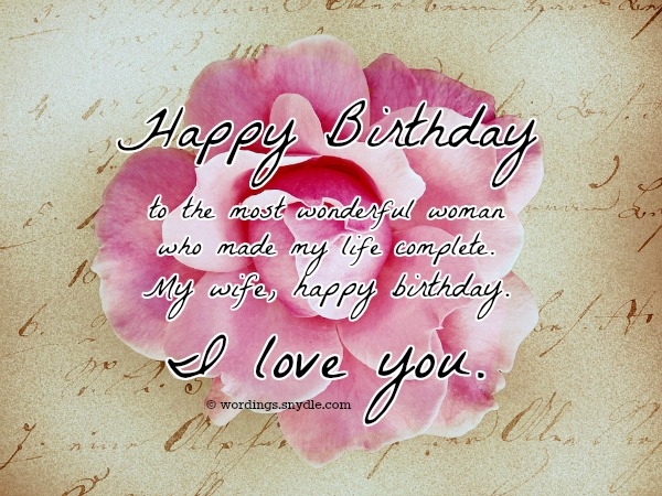 Birthday Wishes And Messages for Wife Wordings and Messages – Happy Birthday Greeting for Wife