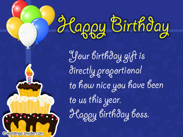 Birthday Wishes for Boss and Birthday Card Wordings for Boss – Happy Birthday Greetings to Boss