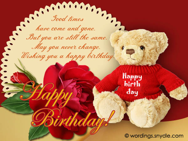 happy birthday wishes, messages and greetings  wordings and, Greeting card