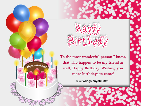 Happy Birthday Wishes And Messages Wordings and Messages – Happy Birthday Wishes Greetings for Friends