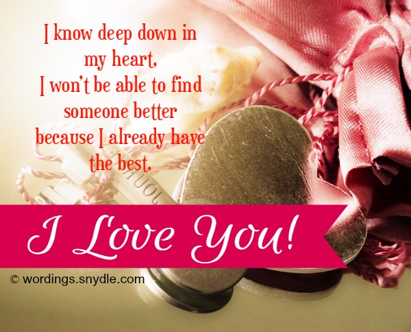 I love you messages and quotes for someone special wordings and