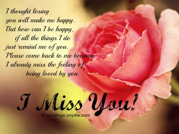 I miss u messages for him