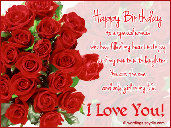 Best Wishes For Birthday Girl Friend : Happy birthday wishes for girlfriend wordings and messages