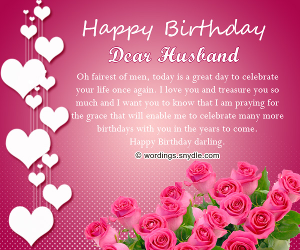 Birthday Wishes For Husband: Husband Birthday Messages And