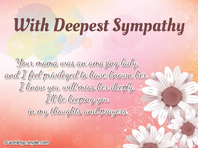 Sympathy Card Messages And Wordings - Wordings And Messages