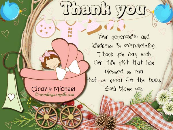 Baby Shower Thank You Message